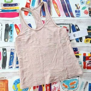 NEW Alo Yoga Pure Distressed Tank Powder Pink S
